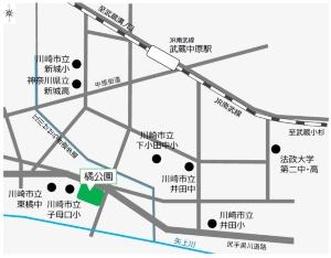橘公園の位置図(資料:川崎市)