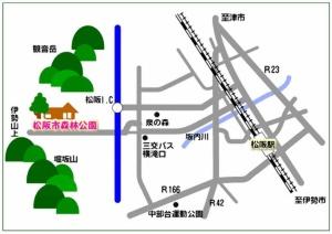 松阪市森林公園の地図(資料:松阪市)