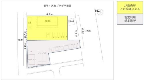暫定利用の想定箇所(資料:沼田市)