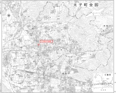 旧庁舎跡地の位置(資料:太子町)