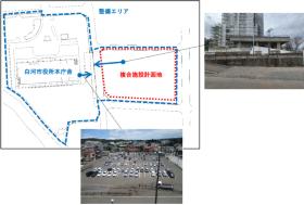 計画地および整備エリアの位置図(資料:白河市)