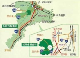 松阪市リバーサイド茶倉、道の駅茶倉駅の位置(資料:松阪市の資料を一部加工)