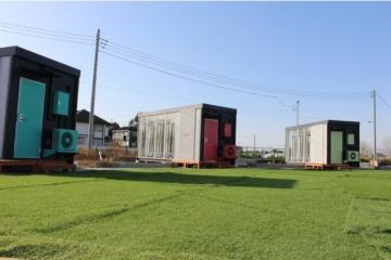 受賞企業がオープンした植物工場コンテナと個室型オフィスを組み合わせた「アグリワーケーション施設」(写真:グリーンリバーホールディングス)