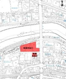 コンベンション施設整備事業の位置図(資料:岡崎市)