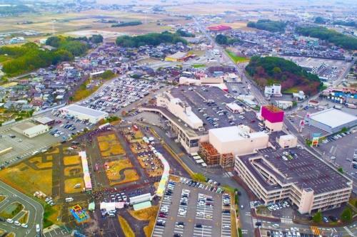 イオン上峰店跡地周辺の航空写真(写真:上峰町)