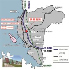 事業箇所の位置(資料:大村市)