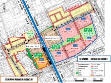 事業箇所の平面図(資料:大村市)