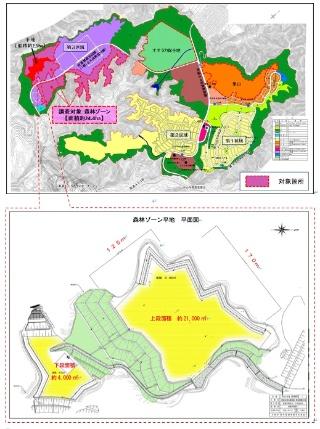 調査対象地の位置(資料:大阪府)