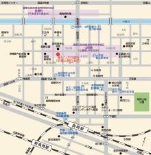 旧富山銀行本店の位置(資料:高岡市)