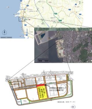 計画予定地の位置 (資料:荒尾市)