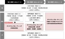実証運行のスケジュール。運行エリアを順次拡大しながら、2022年3月まで実施する(出所:高萩市)