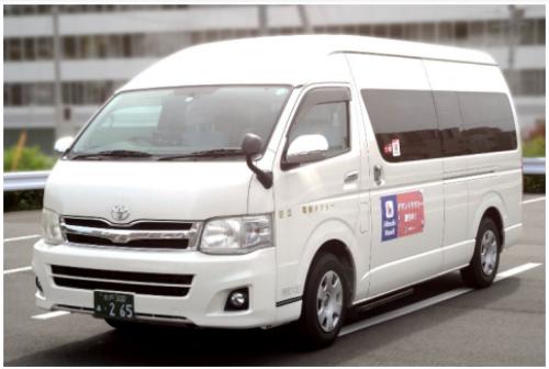 AIデマンドサービスの宮田・助川・成沢エリアで使用する乗合タクシー(出所:ひたち圏域新モビリティー協議会)