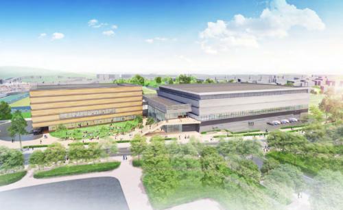 下関市新総合体育館の外観イメージ(資料:下関市)