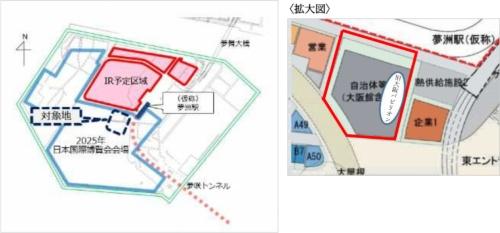 旧大阪パビリオンの位置(資料提供:大阪市)