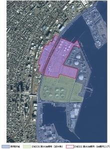 静岡市清水区袖師地区の位置図