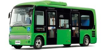 京王電鉄バスのプロジェクトで自動運転バスのベースとなる日野ポンチョロング2ドア(出所:日野自動車)