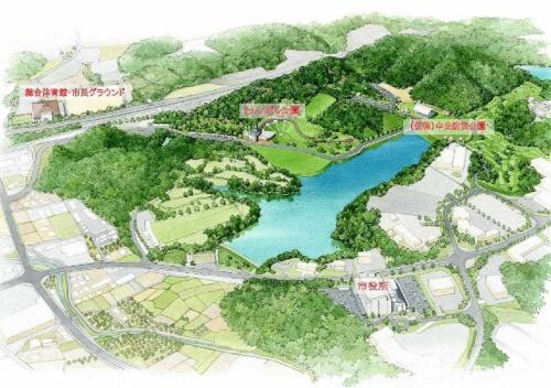 中央防災公園の鳥かん図(資料:海南市)
