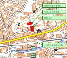 整備用地周辺図(資料:川崎市)