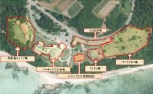 「バーデハウス久米島」と周辺施設の配置(久米島町の資料を一部加工)