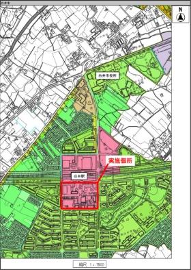 トライアル・サウンディングの実施カ所(資料:白井市)