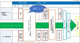 白井駅前再編ビジョンの策定フロー(資料:白井市)