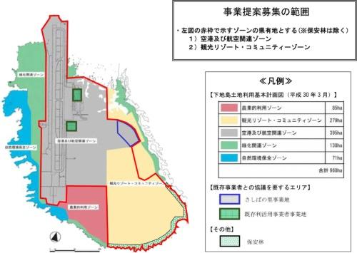 要項(案)で示された事業提案募集の範囲(資料:沖縄県)