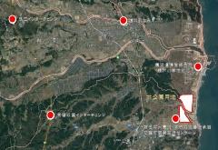 公園の位置と周辺の施設(資料提供:福島県)
