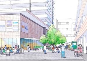 整備後の「居心地がよく歩きたくなる駅前空間」のイメージ(資料:尼崎市)