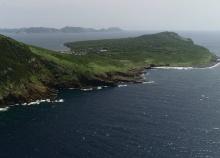 嵯峨島上空から見た五島列島