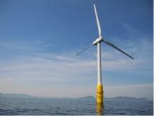 日本初の浮体式洋上風力発電「はえんかぜ」