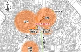 隅田公園の位置(資料:墨田区)