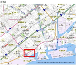 旧駒ヶ林公会堂の所在地(資料:神戸市)