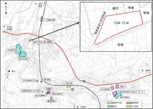 計画地の位置(「佐川町新文化拠点(仮称)整備基本計画(策定中)」より)