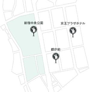 自動運転タクシーの乗降場所 (出所:Mobility Technologies)