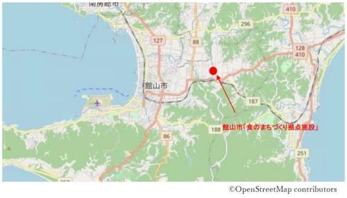 建設予定地の位置図(資料:館山市)