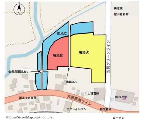 建設予定地の敷地図(資料:館山市)