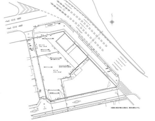 対象地の現況図(資料:板橋区)