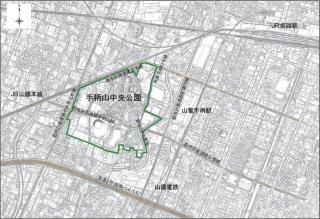 手柄山中央公園の位置(資料:姫路市)