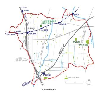 複合施設の建設予定地(出所:門真市)