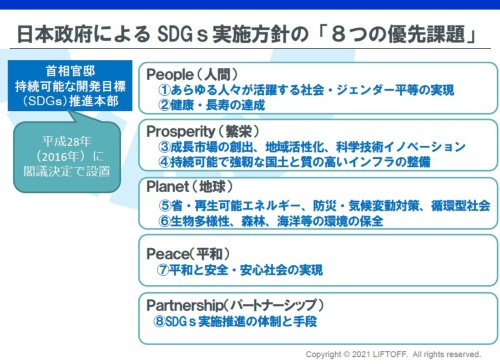 政府が策定した「8つの優先課題」(出所:地域未来づくり研究所)