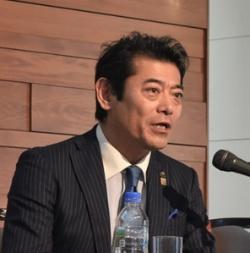 茨城県常総市の神達岳志市長(写真:柏崎吉一)