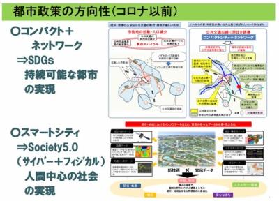 新型コロナ以前の都市政策の方向性(国土交通省・渡邉浩司氏の発表資料)