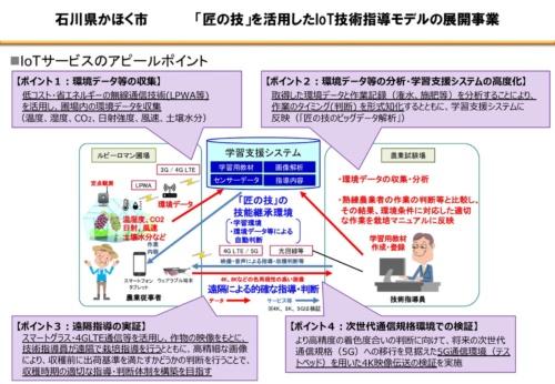 熟練生産者の「匠の技」を伝えるIoTを用いた技術指導モデル(資料:かほく市)