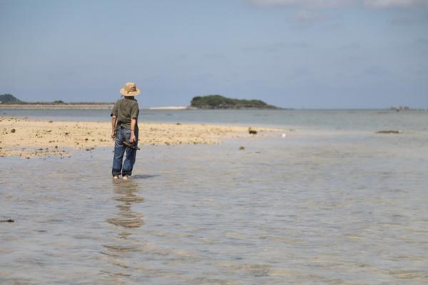 潮の満ち引きで刻々と景色が変わるヤハラヅカサ。訪れた際は、引き潮。いつまでも歩いていたい気分にかられた(写真:松隈 直樹、以下同)