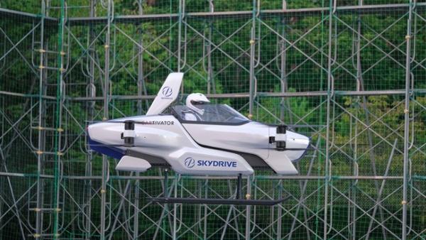 2020年8月に公開有人デモフライトを実施。写真の機体は「有人機 SD-03」。飛行時間は約4分間だった(写真:SkyDrive)