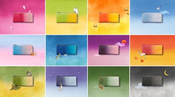 内製化した工場で試作を繰り返して生まれたグラデーションのレザー財布「IRODORI」(写真提供:マザーハウス)
