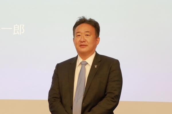 代表取締役社長兼CEOの多田荘一郎氏。リアルタイムデータとその活用の重要性を語った(写真:宮川 泰明)