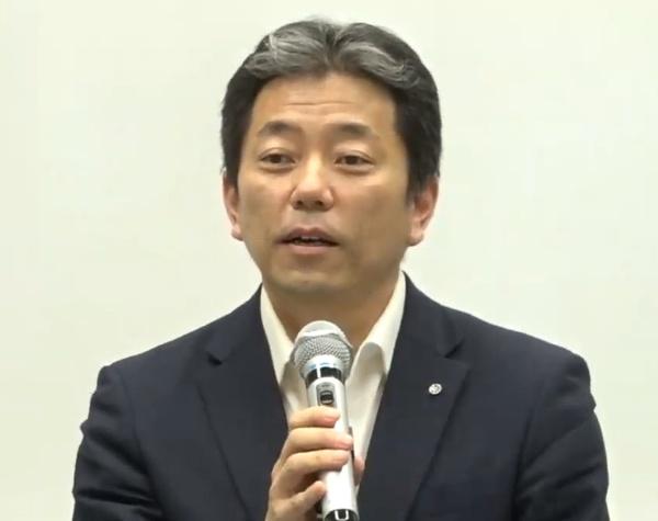 奈良県 田原本町長の森章浩氏(写真:記者会見のオンライン画面キャプチャー)