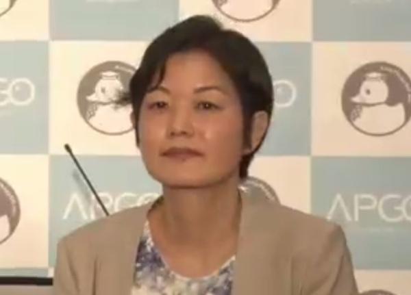 AutoPhagyGO 代表取締役社長の石堂美和子氏(写真:記者会見のオンライン画面キャプチャー)
