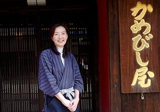 かめびしの17代目、常務取締役の岡田佳苗さん(写真:瓜生敏夫、以下同)